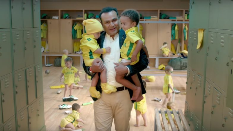 India vs Australia 2019: Star Sports' New Ad Takes a Jibe At Tim Paine's Baby Sitting Comment; Virender Sehwag Turns a Hilarious Babysitter