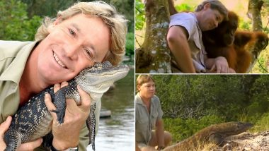 Steve Irwin's Birth Anniversary: From Deadly Snakes to Chasing Cheetahs, These Videos of The Crocodile Hunter Prove His Love For Animals