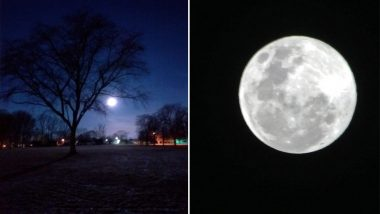 Super Snow Moon 2019 Pictures: Check First Glimpses of The Biggest Supermoon of The Year