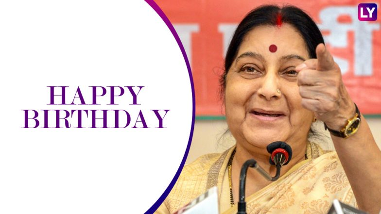 Sushma Swaraj Birthday: Times BJP Leader Proved That She Means Business With Her Spectacular Achievements