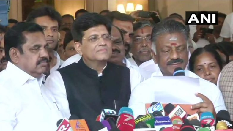 AIADMK Seals Alliance With BJP, PMK in Tamil Nadu For Lok Sabha Elections 2019