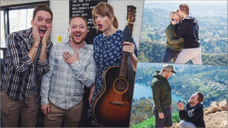 Taylor Swift Makes Man and His Boyfriend's Engagement Even Sweeter! Watch Video As Songwriter Serenades Gay Couple