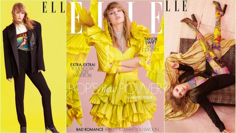 Taylor Swift Is Your Sunshine Girl As American Songstress Graces Elle UK Magazine Cover in Bright Yellow Dress! See Pics