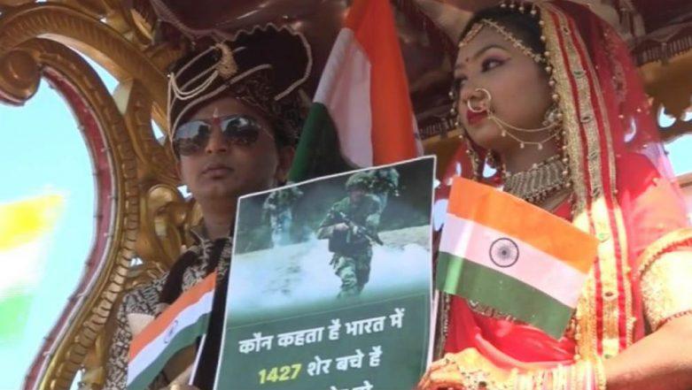 Pulwama Terror Attack: Vadodara Couple Dedicates Their Marriage Procession to CRPF Martyrs