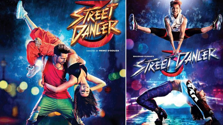Street Dancer 3 New Posters: Varun Dhawan Almost Breaks Shraddha Kapoor into Half For This Funky Photo-shoot! (View Pics)