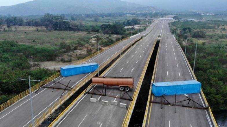 Venezuelan Troops Blockade Bridge to Prevent Aid Coming in from Colombia