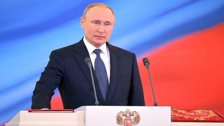 Russian President Vladimir Putin Signs Laws on Curbing Fake, Offensive News