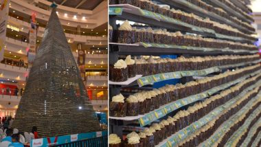Guinness World Record of Tallest Tower of Cupcakes Created in Chennai, Watch Video