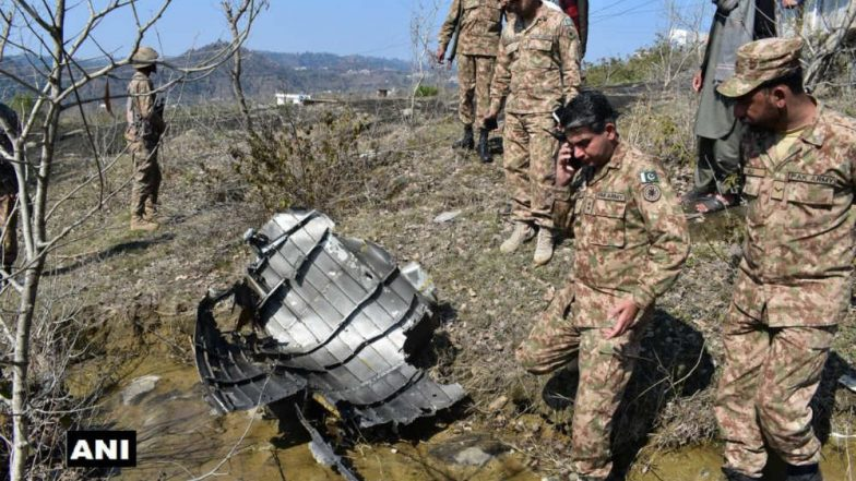 First Photo of Wreckage of Pakistani F-16 Jet Shot Down by India's MiG-21 Is Out