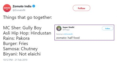 Zomato Tweets a Gully Boy and Biryani Joke, Twitter Roasts the Food Delivery Giant With Hilarious Memes