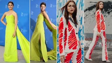 From a Red Moschino Pantsuit to a Neon Green Prabal Gurung Gown, Alia Bhatt's Fashion Outings Take Berlin By Storm - View Pics