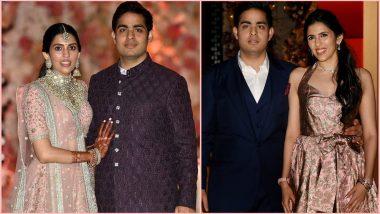 Akash Ambani-Shloka Mehta Wedding Celebrations Dates & Venues: Mukesh Ambani's Son to Get Married on March 9, Bachelors Bash in Switzerland From Feb 23–25