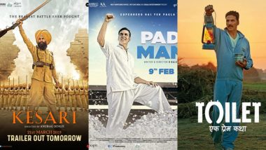 Kesari, PadMan, Toilet: Akshay Kumar Loves Raising His Fist on Movie Posters – View Pics