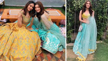 Alia Bhatt Looks Gorgeous in Blue as She Turns Into a Bridesmaid at Her Bestie's Wedding (View Inside Pics)