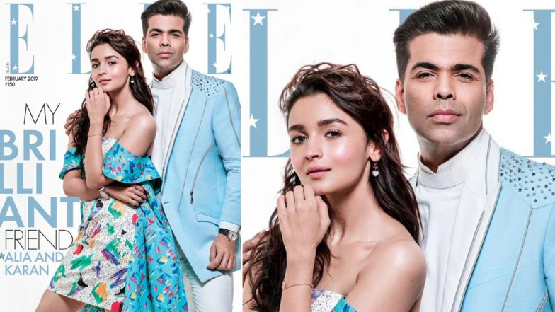 Karan Johar Graces The Cover of Elle India With His 'Baby' Alia Bhatt - See Pic
