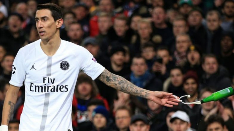 Manchester United Fans Hurl Beer Bottle at PSG's Angel Di Maria As PSG Supporters Block Stairway; UEFA Opens Disciplinary Proceedings Against MUFC & PSG