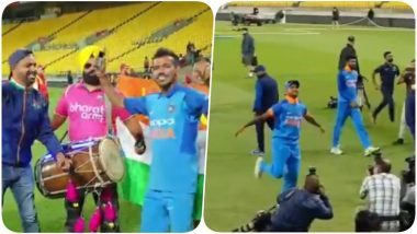Shikhar Dhawan and Yuzvendra Chahal Grove to the Tunes of Bharat Army After Clinching ODI Series Against New Zealand (Watch Video)