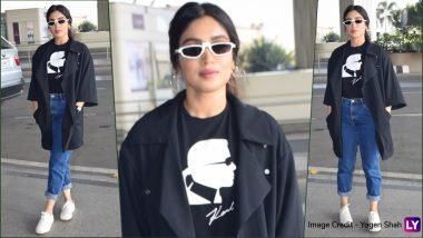 Bhumi Pednekar Wears Karl Lagerfeld Printed Tee, Pays Tribute to Fashion Legend: See Bhumi's Latest Airport Look in Pics