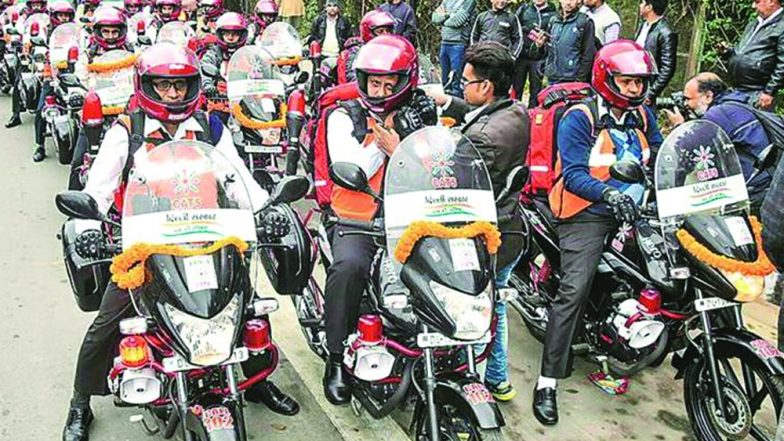 Bike Ambulances With GPS And Medical Equipment Flagged Off by Arvind Kejriwal in Delhi; Watch Video