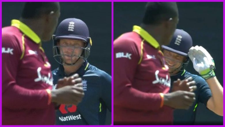 Jos Buttler Teases Sheldon Cottrell With a 'Salute' During WI vs ENG 4th ODI, Watch Video