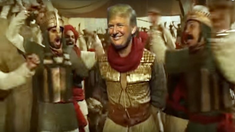 US President Donald Trump Turns Peshwa Bajirao and Dances to Ranveer Singh's Malhari Song and Netizens Can't Get Enough of This Viral Meme