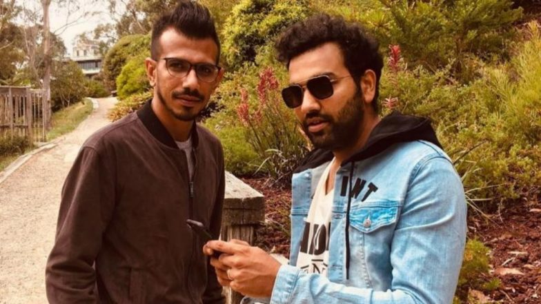 Rohit Sharma Takes a Jibe at Yuzvendra Chahal For Using a Bat Without a Sponsor Ahead of India vs Australia, 1st T20I 2019 (See Pic)