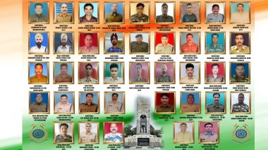 List of Jawans Martyred in Pulwama Attack: Names and Photos of 40 CRPF Bravehearts Martyred in JeM Terror Strike in J&K
