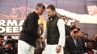 Andhra Pradesh CM N Chandrababu Naidu to Meet Rahul Gandhi in Delhi, Akhilesh Yadav, Mayawati in Lucknow Tomorrow