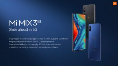 MWC 2019: Xiaomi Unveils Mi Mix 3, Its Maiden 5G Phone, Starting at Rs 48,258
