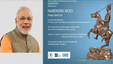 Auction of Narendra Modi's Gifts on pmmementos.gov.in: Lord Shiva Statuette, Wooden Ashok Stambh Replica Fetch High Bids