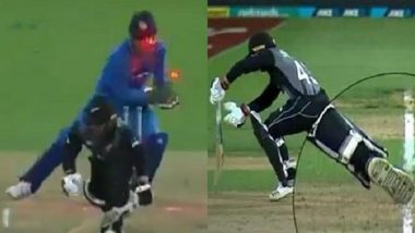 MS Dhoni's Brilliant Stumping Sends Tim Seifert Packing During IND vs NZ, 3rd T20I 2019 (Watch Video)