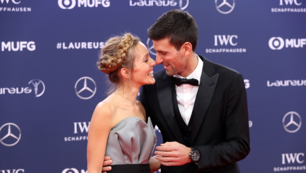Novak Djokovic And Wife Jelena Challenge Roger Federer Cristiano Ronaldo Rafael Nadal And Others To Do A Crazy Stunt Watch Video Post Latestly