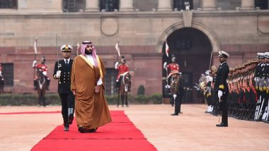 Saudi Crown Prince Mohammad Bin Salman Receives Ceremonial Welcome at Rashtrapati Bhawan
