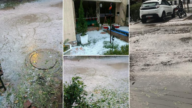 Snowfall in Delhi? Twitterati Share Unbelievable Pictures and Videos After Latest Hailstorm