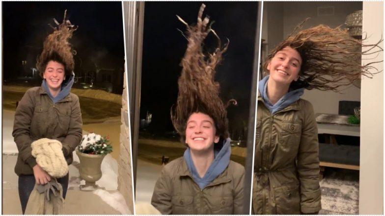 Polar Vortex Turns Woman's Wet Hair Into Ice As Cold Cripples the Midwest; Watch Hair-Raising Video
