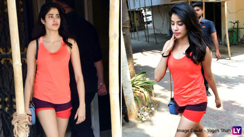 Janhvi Kapoor Looks Hot in a Tangerine Gym Wear-See Pics