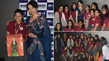 Kangana Ranaut Surprises School Girls During a Special Screening of Manikarnika: The Queen of Jhansi