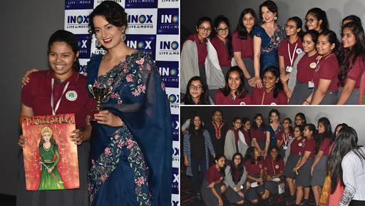 Kangana Ranaut Surprises School Girls During a Special Screening of Manikarnika: The Queen of Jhansi