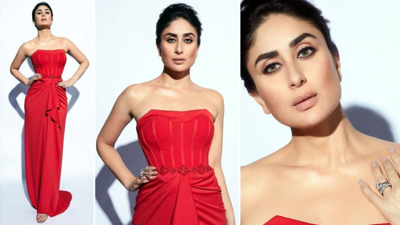 Lakme Fashion Week 2019 Day 5: Kareena Kapoor Khan Looks Smashing in a Sultry Red Outfit! (View Pics)