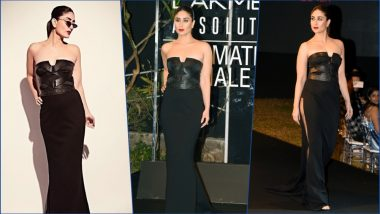 LFW 2019 Finale: Kareena Kapoor Khan Sports Bold Avatar in All-Black Ensemble by Shantanu and Nikhil (See HD Pics)