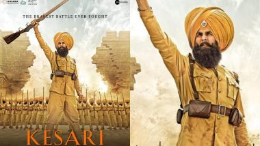 New Poster of Akshay Kumar's 'Kesari' Unveiled, Trailer out Tomorrow
