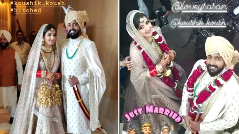 Lovey Sasan and Koushik Krishnamurthy First Wedding Pic Is Out and It's a Vision in Pink and White!