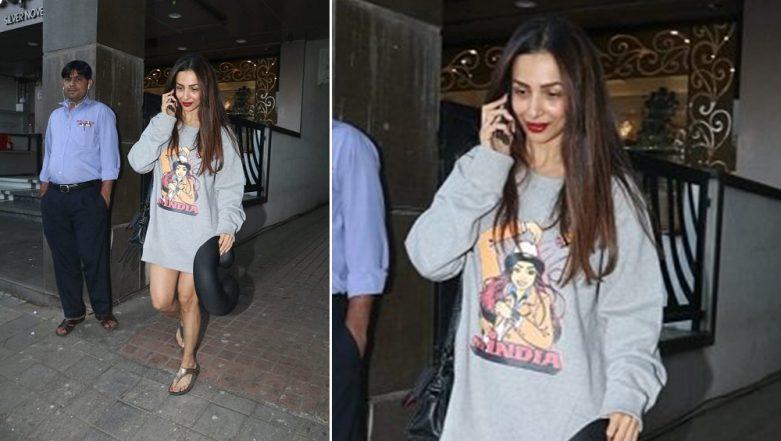 Is Malaika Arora Flaunting Her Love for Beau Arjun Kapoor's Family Through This Sweatshirt?