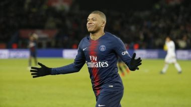 PSG's Kylian Mbappe Equals Cristiano Ronaldo's Record Against Manchester United During Champions League 2018-19 Tie (Watch Video Highlights)