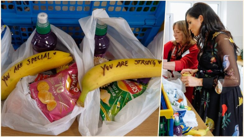 Meghan Markle & Prince Harry Visit Bristol: Duchess of Sussex Writes Empowering Messages on Bananas for the Street Sex Workers (Watch Video)