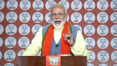 Mera Booth Sabse Mazboot: PM Narendra Modi Says 'India Will Win As One' Amid Tensions With Pakistan, Asks BJP Workers To Motivate People In Favour Of Party Ahead of Lok Sabha Elections 2019