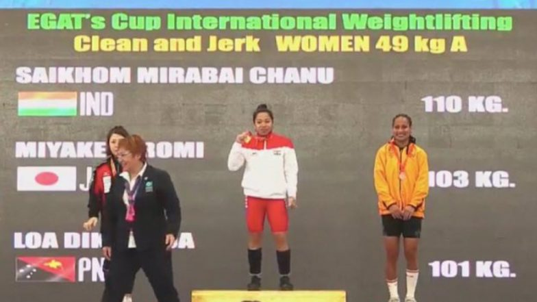 Mirabai Chanu Clinches Gold Medal at EGAT's Cup 2019, Her First Competitive Meet After Injury