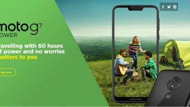 Moto G7 Power Smartphone Reportedly To Go on Sale Today at Flipkart; Price in India To Start From Rs 13,999