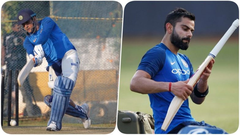 Virat Kohli, MS Dhoni and Others Hit the Nets Ahead of the First T20I Against Australia at Vizag (See Pics)
