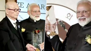 Narendra Modi Receives Seoul Peace Prize in South Korea, Says It's Time to Unite to Eradicate Terror